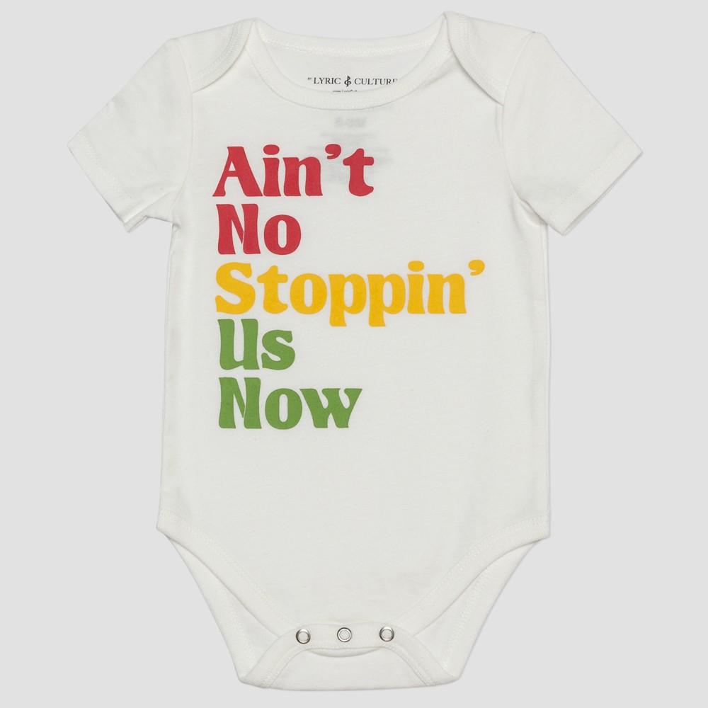 Lyric Culture Baby Ain't No Stoppin' Us Now Bodysuit - Bone 0-3M, Infant Unisex, Beige
