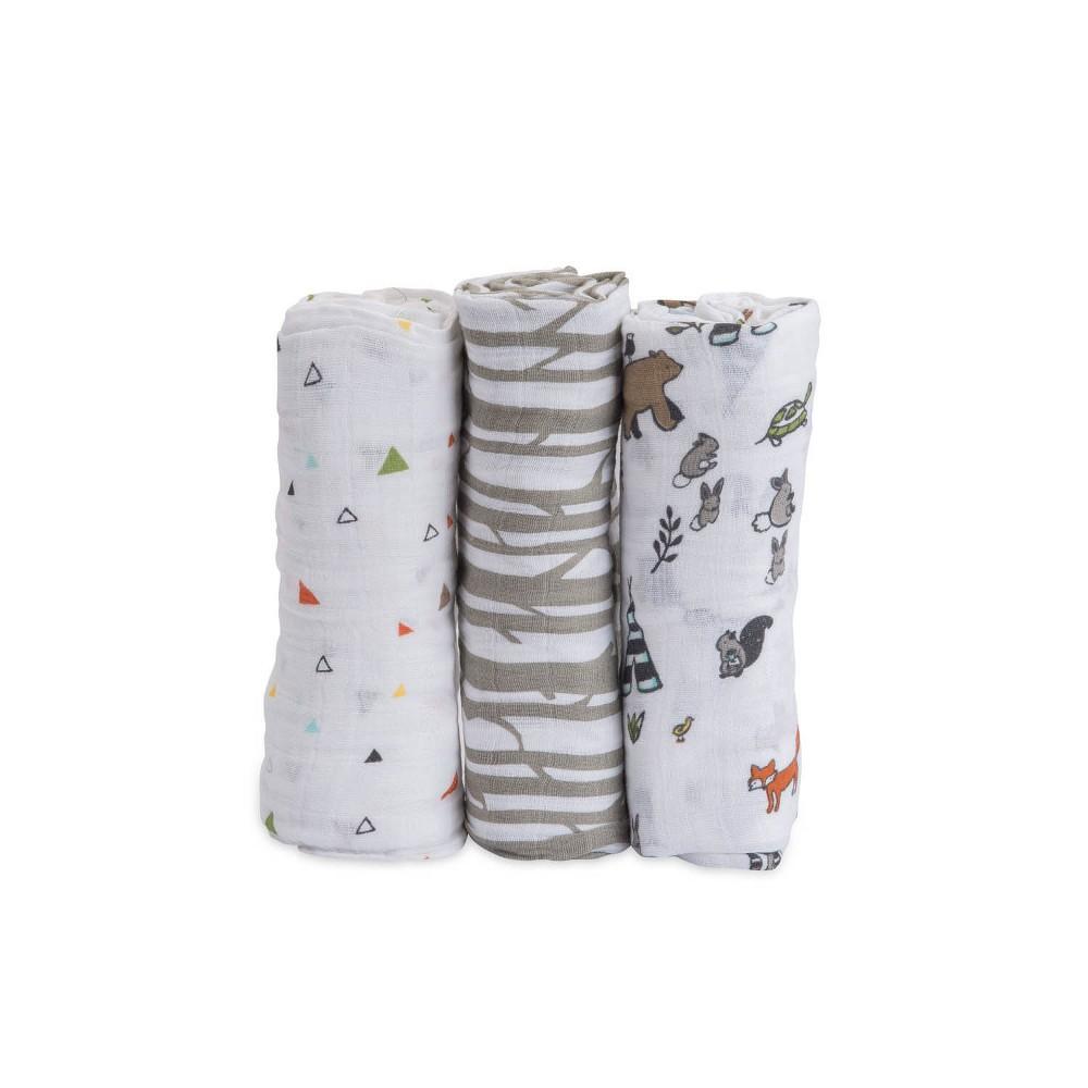 Little Unicorn Cotton Muslin Swaddle Blankets Forest Friends