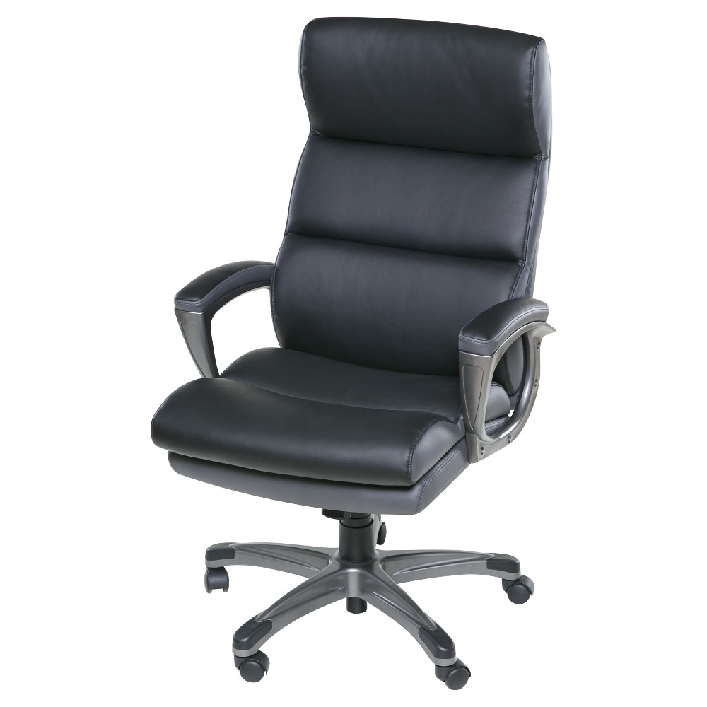 Roosevelt High Back Two - Tone Executive Chair with Padded Armrests Black - Onespace