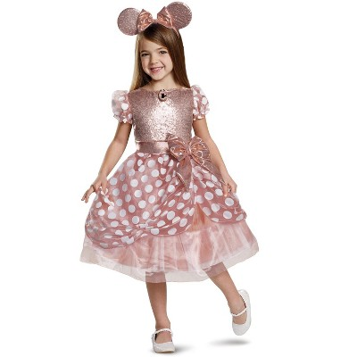 Mickey Mouse Clubhouse Rose Gold Minnie Deluxe Child Costume