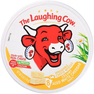 The Laughing Cow White Cheddar Cheese - 6oz