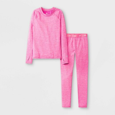 Girls' 2pk Thermal Set Underwear - All in Motion™ Pink