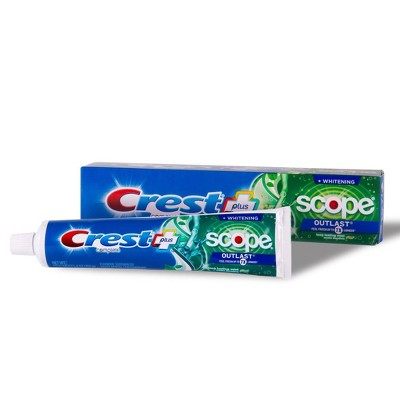 Crest + Scope Outlast Complete Whitening Toothpaste Mint - 5.4oz