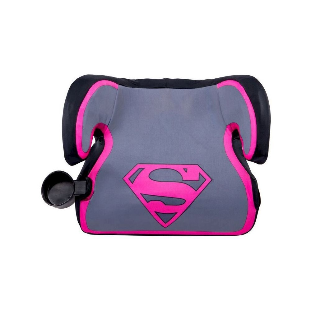 Image of KidsEmbrace DC Comics Supergirl Ultra Backless Booster Car Seat, Pink Gray