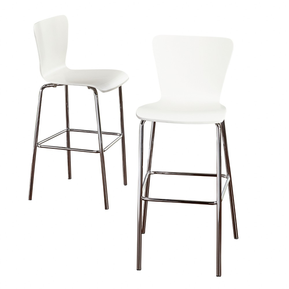 Set of 2 30 Hillboro Stool White - Buylateral was $157.99 now $78.99 (50.0% off)