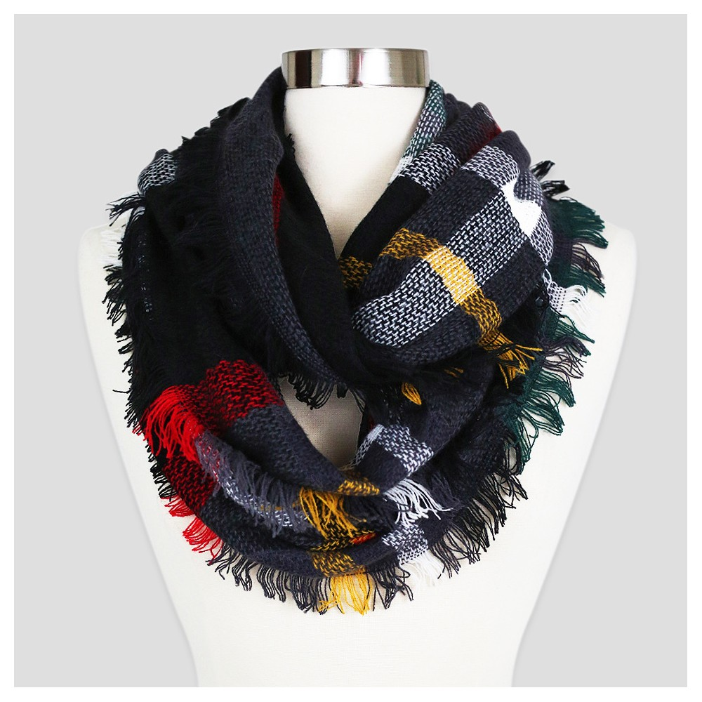 Women's Sylvia Alexander Fashion Scarf - Black Plaid
