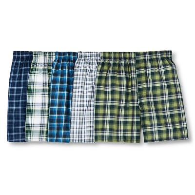 Hanes Men's 5pk Boxer Shorts Tartan - Colors May Vary