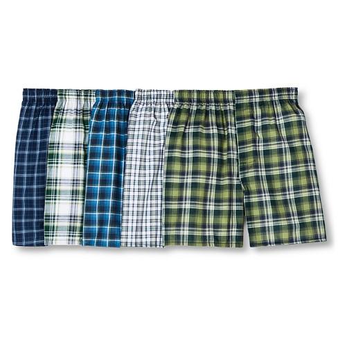 d13c22f800d1 Hanes Men's Tartan Plaid Boxer Shorts 5pk : Target