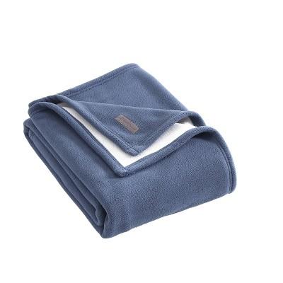"Eddie Bauer 50""x60"" Reversible Solid Throw Blanket"