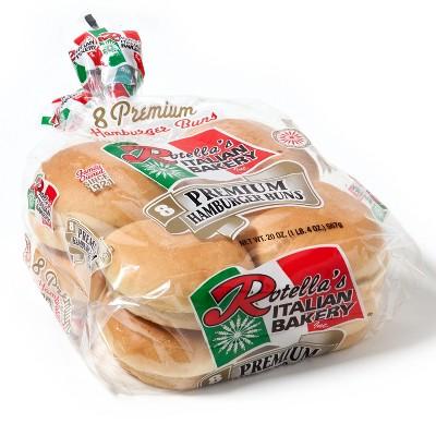 Rotella's Italian Hamburger Buns - 20oz/8ct