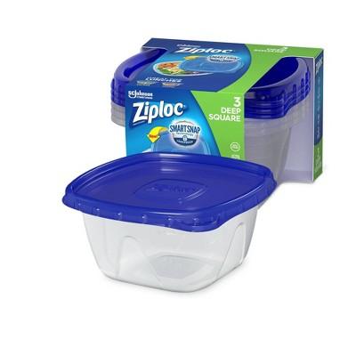 Ziploc Medium Square Containers - 3ct
