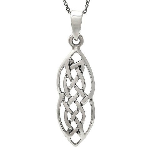 "Women's Journee Collection Handcrafted Celtic Pendant Necklace in Sterling Silver - Silver (18"") - image 1 of 2"