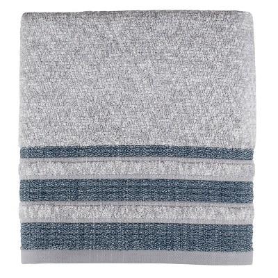 Cubes Bath Towel Navy - Saturday Knight Ltd.