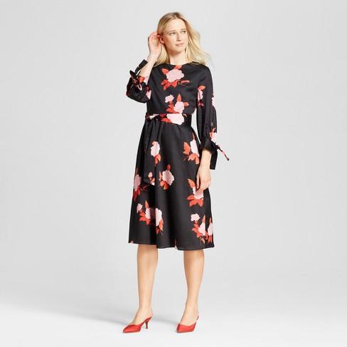 Women S Tie Sleeve Midi Dress Who What Wear