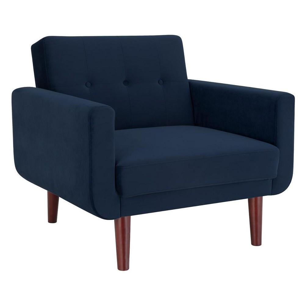 Fiore Modern Velvet Chair Blue - Dorel Living, Blue Velvet
