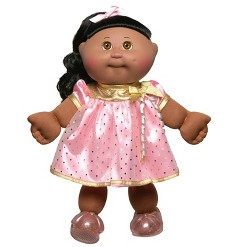 "Cabbage Patch Kids 14"" Celebration Brown Eyed Kid - Pink & Gold"