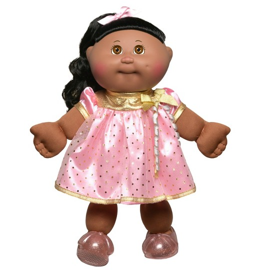 """Cabbage Patch Kids 14"""" Celebration Brown Eyed Kid - Pink & Gold image number null"""