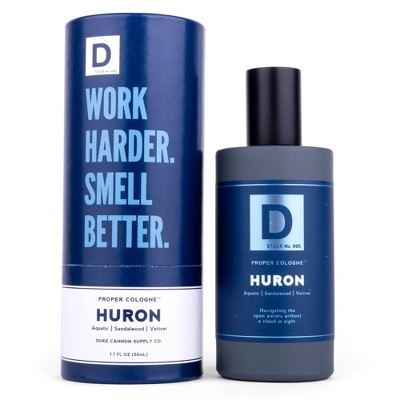 Duke Cannon Aquatic & Warm Woods Huron Men's Proper Cologne - 1.7 fl oz