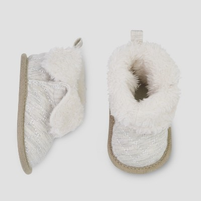 Babys' Quilted Bootie Slipper - Just One You® made by carter's Cream Newborn