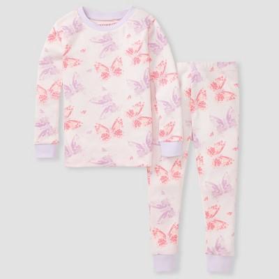 Burt's Bees Baby® Toddler Girls' 2pc Butterfly Pajama Set - Purple