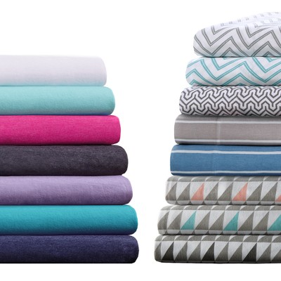 Cotton Blend Jersey Knit All Season Sheet Set : Target