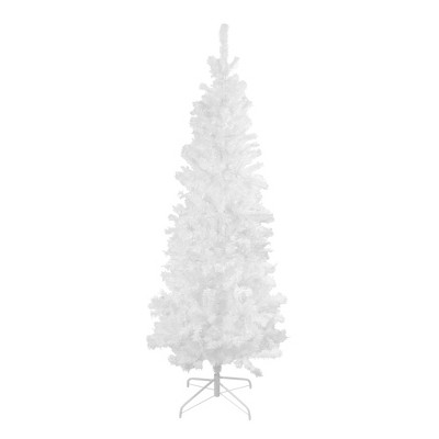 Northlight 6.5' White Winston Pine Slim Artificial Christmas Tree - Unlit