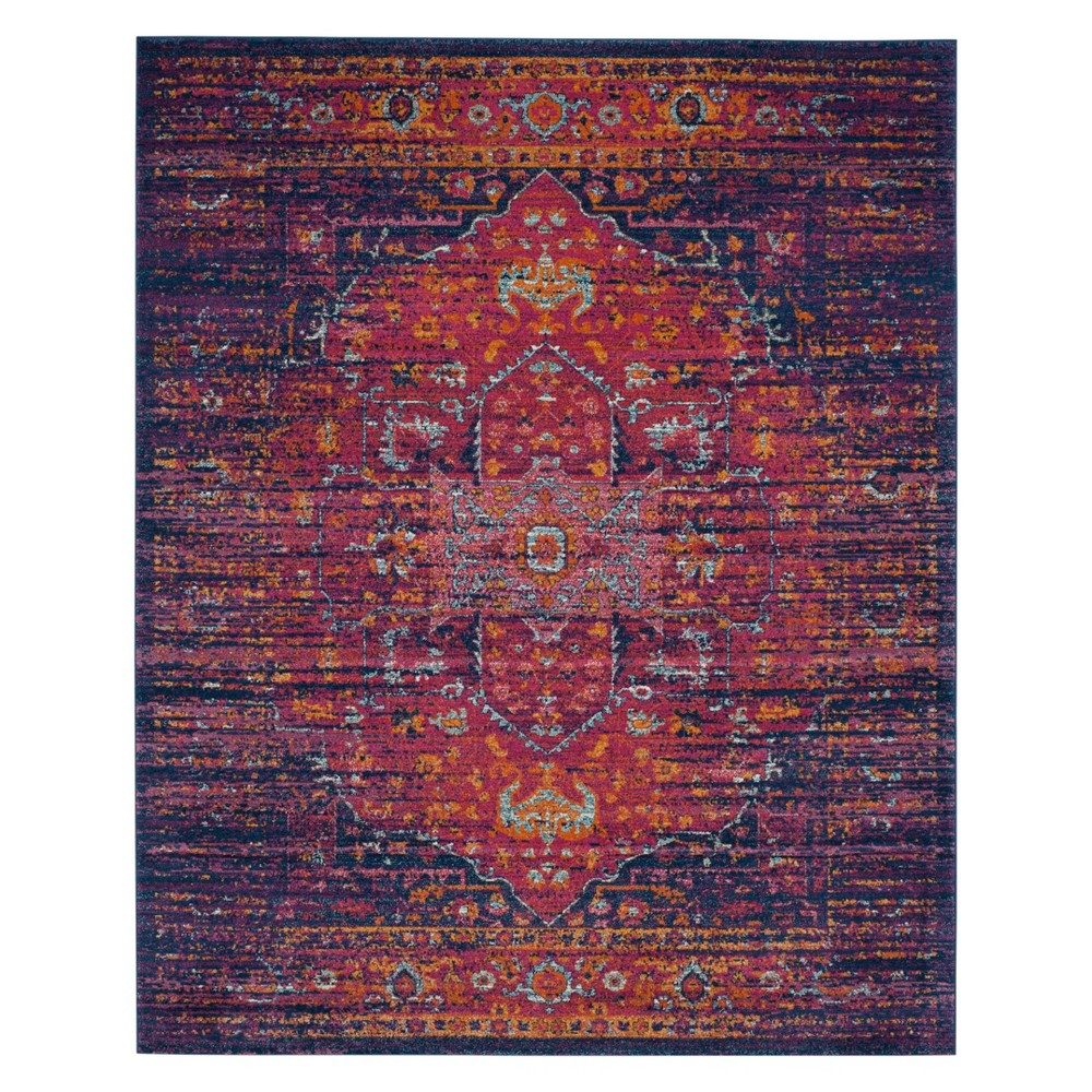 10'X14' Medallion Area Rug Blue/Fuchsia (Blue/Pink) - Safavieh