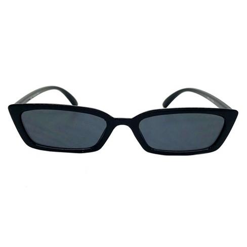 Women's Rectangle Sunglasses - Wild Fable™ Black - image 1 of 3