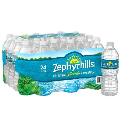 Zephyrhills Brand 100% Natural Spring Water - 24pk/16.9 fl oz Bottles