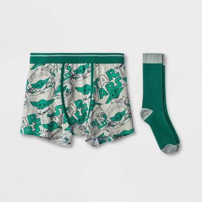 Men's Star Wars Boxer Briefs - Gray/Green