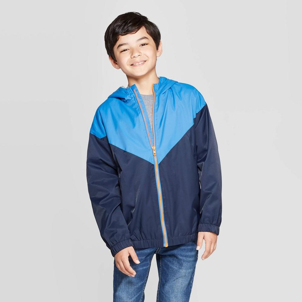Boys' Long Sleeve Windbreaker Jacket - Cat & Jack Navy XXL, Boy's, Blue was $19.99 now $11.99 (40.0% off)
