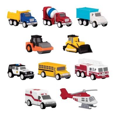 DRIVEN – Mini Toy Trucks and Work Vehicles – Pocket Fleet Multipack - 10 pc