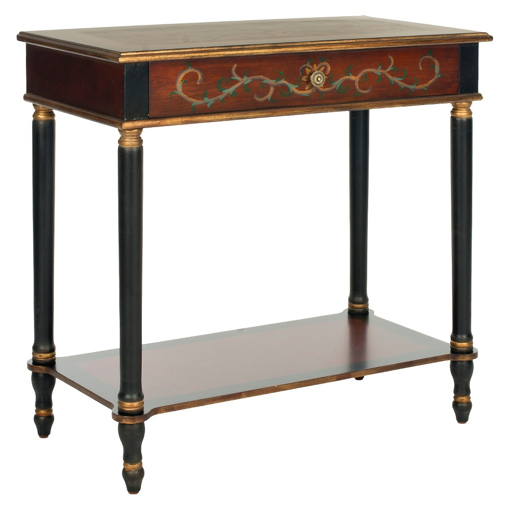 Ronald Console Table Brown - Safavieh, Brown/Black