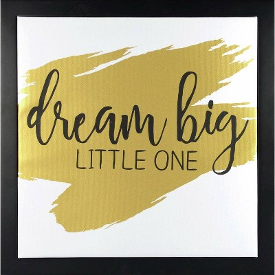 RoomMates Framed Wall Poster Prints Dream Big Little One - Gold