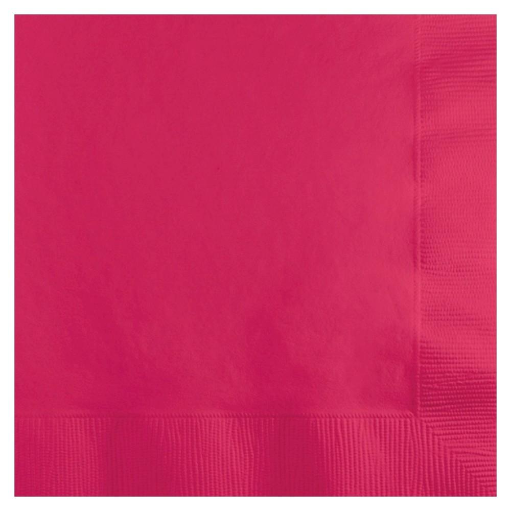 50ct Hot Magenta Pink Disposable Napkins
