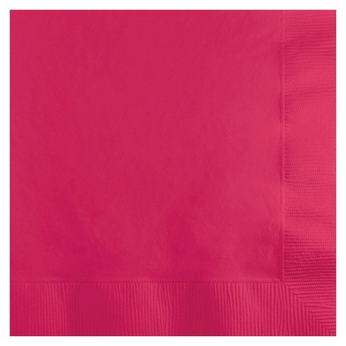 50ct Hot Magenta Pink Disposable Napkins - image 1 of 1