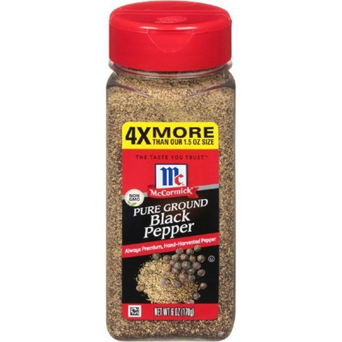 McCormick Pepper Black Ground 6oz - image 1 of 4