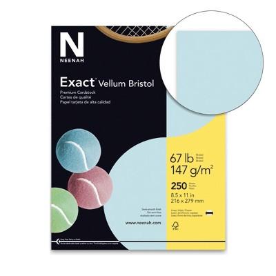 Exact Vellum Bristol Cardstock, 8-1/2 x 11 Inches, 67 lb, Blue, pk of 250