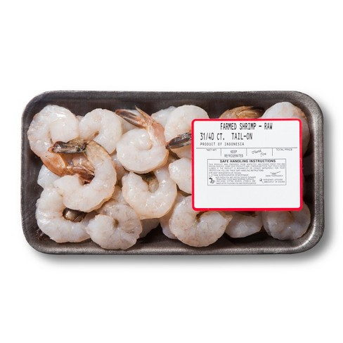 31/40 P&D Tail-On Raw Shrimp - 8oz - image 1 of 1