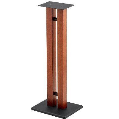 Monolith Speaker Stands - 32 Inch, Cherry (Each), 50lbs Capacity, Adjustable Spikes, Sturdy Construction, Ideal For Home Theater Speakers