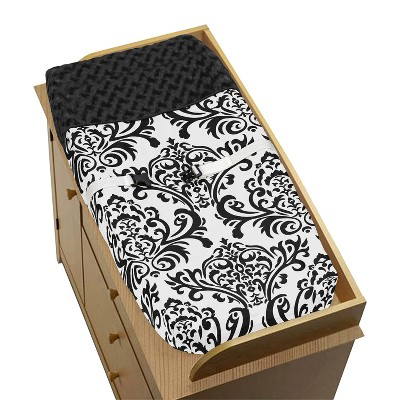 Sweet Jojo Designs Black and White Isabella Changing Pad Cover