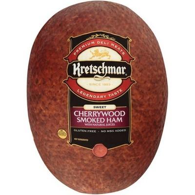 Kretschmar Sweet Cherrywood Smoked Ham - priced per lb