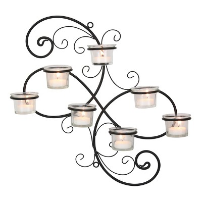 Modern Decorative Ivy Tea Light Candle Holder - Stonebriar Collection