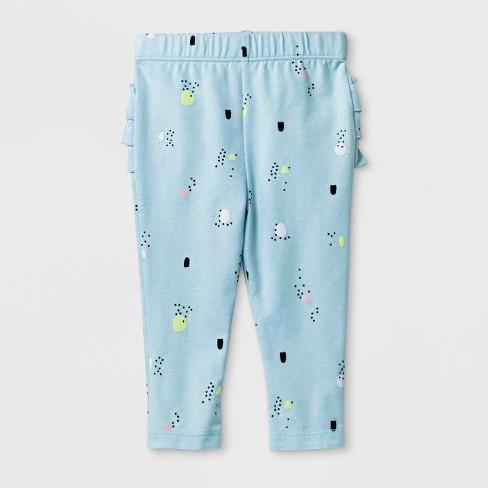 0251b141e Baby Girls' Ruffle Leggings - Cat & Jack™ Blue Newborn : Target