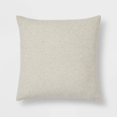 Oversized Tweed with Wool Reverse Square Throw Pillow - Threshold™