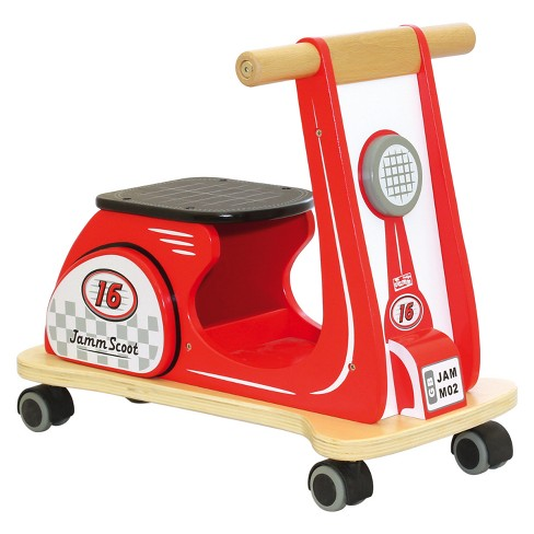 Indigo Jamm - Jamm  Scoot Racing Red Ride-On Wood Scooter - image 1 of 6