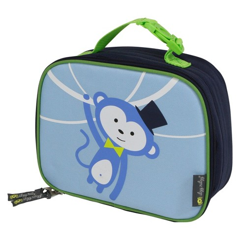 Itzy Ritzy Lunch Happens Insulated Lunch Bag Monkey - Blue - image 1 of 4