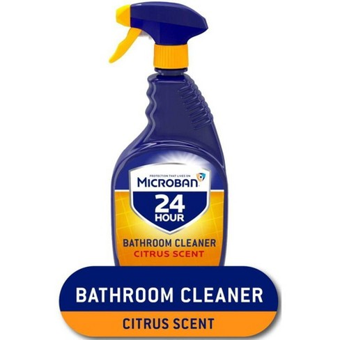 Microban 24 Hour Bathroom Cleaner And Sanitizing Spray Citrus Scent 32 Fl Oz Target