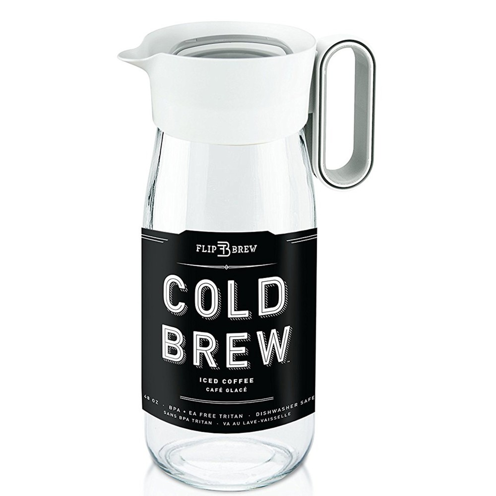 Zing Flip Cold Brew Lidded Tumbler 48oz, Black 53588698