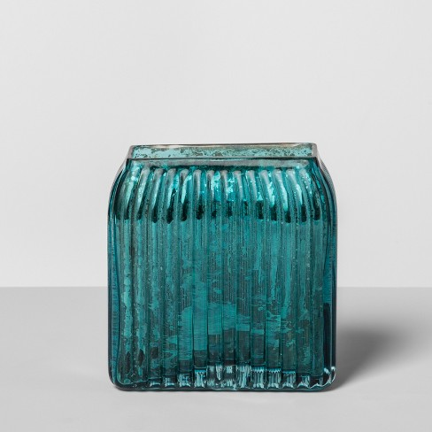 Glass Toothbrush Holder Teal Blue - Opalhouse™ - image 1 of 4
